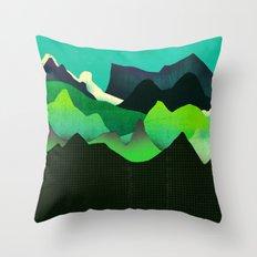 Landscape Slice Throw Pillow