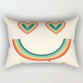 Happy Rainbow Rectangular Pillow