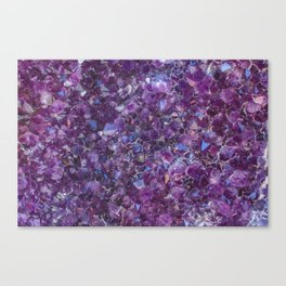 Purple Geode Canvas Print