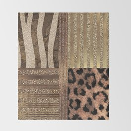 Gold Lioness Safari Chic Throw Blanket