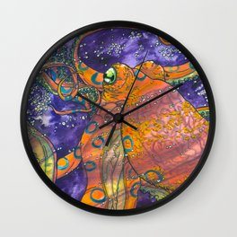 blue ringed octopus Wall Clock