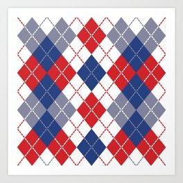 Patriotic Argyle Art Print
