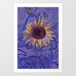 TALL SUNFLOWER Art Print
