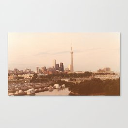 ~ Vintage ~ Toronto Skyline in the 80's Canvas Print