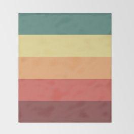 Retro Stripes Throw Blanket