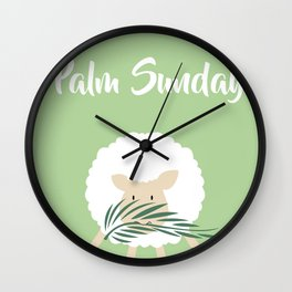 Palm Sunday Lamb Of God Wall Clock