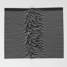 Unknown Radio Waves - Unknown Pleasures Throw Blanket