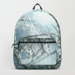 Glowing Sun Rays Through Willow Tree Branches Backpack