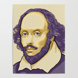 Shakespeare - royal purple and yellow Poster
