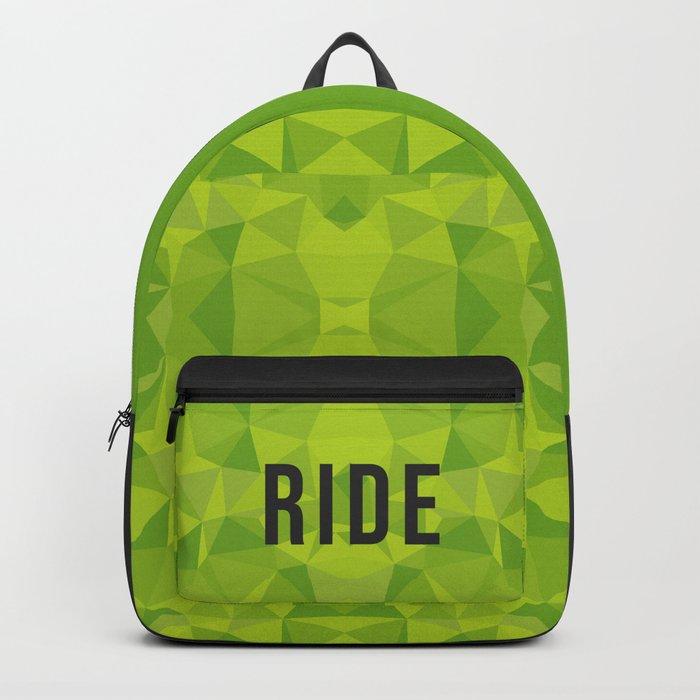Green polygons mosaic Backpack