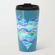 A Sea of Love (blue) Metal Travel Mug