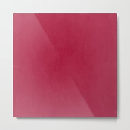 Modern girly magenta pink faux leather pattern Metal Print