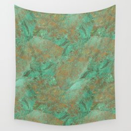 Verdigris Patched Texture Wall Tapestry