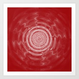 Ripples_Red Art Print
