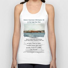 Wilmington, NC on the Cape Fear River Unisex Tank Top