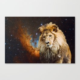 Lion and Galaxy Canvas Print