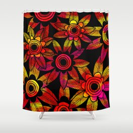 Big Floral 1 Shower Curtain