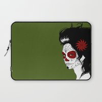 calavera Laptop Sleeves featuring Calavera by Griboedova Nat