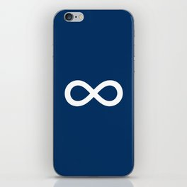 Navy Blue Infinity iPhone Skin