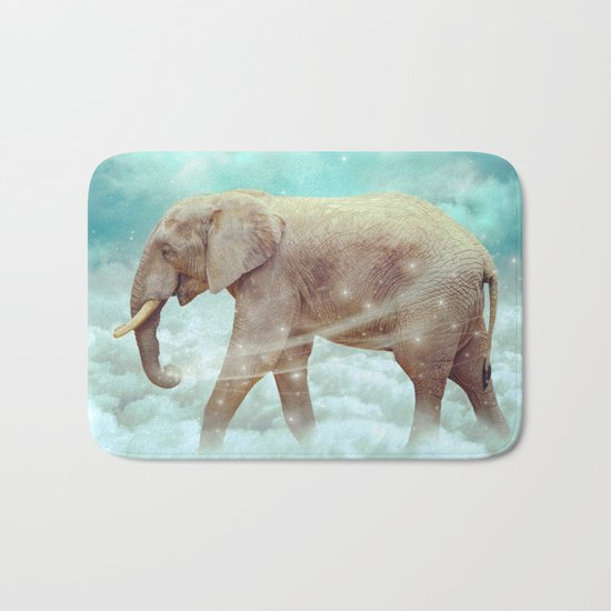 Walk With the Dreamers (Elephant in the Clouds) Bath Mat