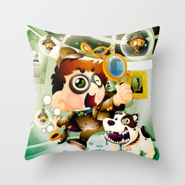 Be Sherlock Holmes Throw Pillow