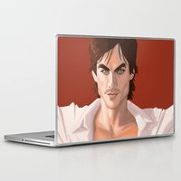 vampire diaries Laptop & iPad Skins featuring Ian Somerhalder from the Vampire Diaries swag based off comic book cover by Storm Media