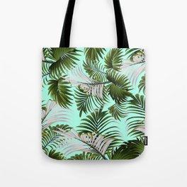 Tropical Leaf Pattern II Tote Bag