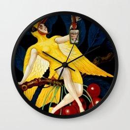 1922 Cherry Rocher Liquor Advertisement Poster by Paul Mohr Wall Clock