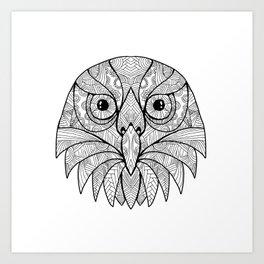 Australian Barking Owl Mandala Art Print