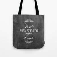 wander Tote Bags featuring Wander by Fancy Designs