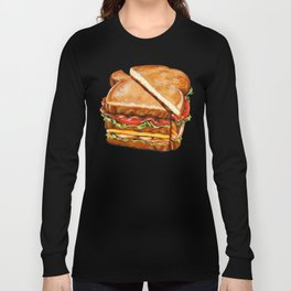 Turkey Club on White Long Sleeve T-shirt