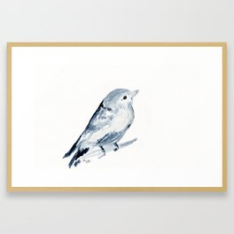 Inky Bird Framed Art Print
