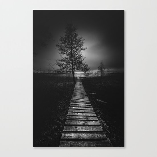 On the wrong side of the lake 9 Canvas Print