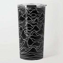 Black and white illustration - sound wave graphic Travel Mug