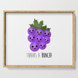 Thanks A Bunch | Grapes Serving Tray