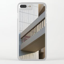 brutalist bridge - roger stevens building leeds Clear iPhone Case