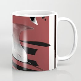 Red,White and Black Mantas Coffee Mug