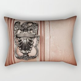 Eagle Door Knocker Rectangular Pillow