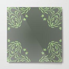 Floral Frame Metal Print