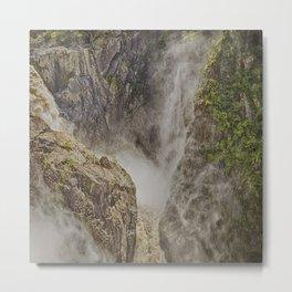 Beautiful waterfall in the rainforest Metal Print