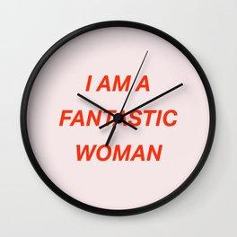 I am a fantastic woman Wall Clock
