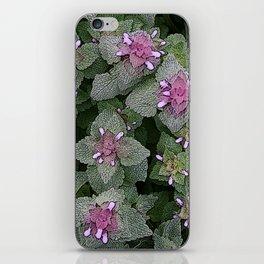 WILD SALVIA MAUVE AND GRAY GREEN iPhone Skin