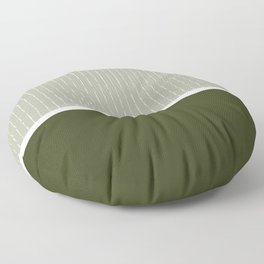 Linen Sage & Olive Floor Pillow