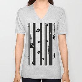 Exaggerated Stripe With Black Unisex V-Neck