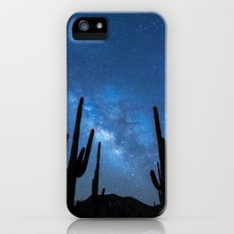 Milky Way, Dreams and Succulents iPhone Case