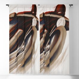 Art Deco Swiss motorcycle ad Blackout Curtain