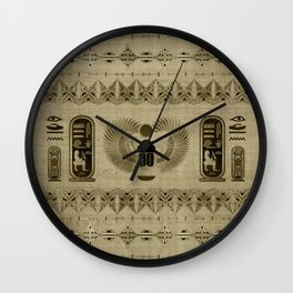 Egyptian Scarab Beetle Ornament Wall Clock