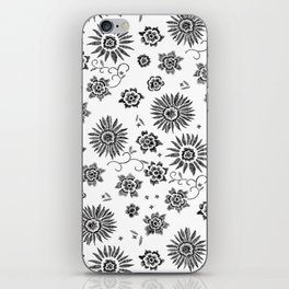 Flowers embroidery iPhone Skin