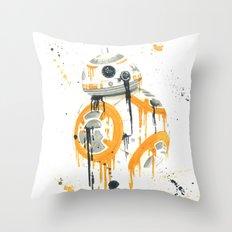 BB-8 Droid Splatter Throw Pillow
