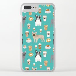 French Bulldog coffee pupuccino dog breed gifts frenchies must haves Clear iPhone Case